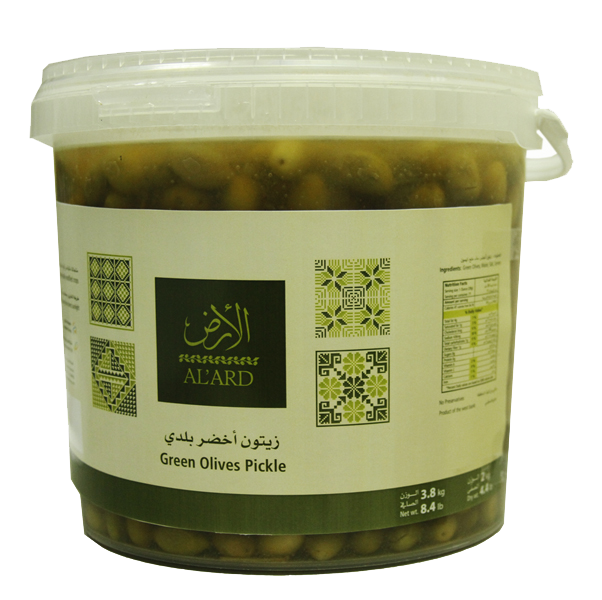 Al'Ard Green olive pickles